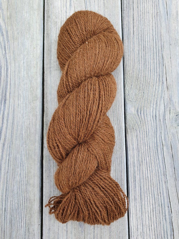 Alpakkavandring - Garn 2020 - 2-tråds - Mørk brun